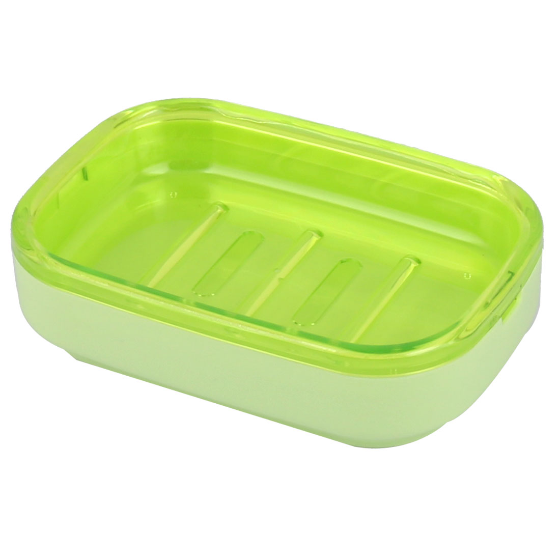 Hotel Household Bathroom Wave Base PP 2 Layers Soap Box Holder Case Container Green
