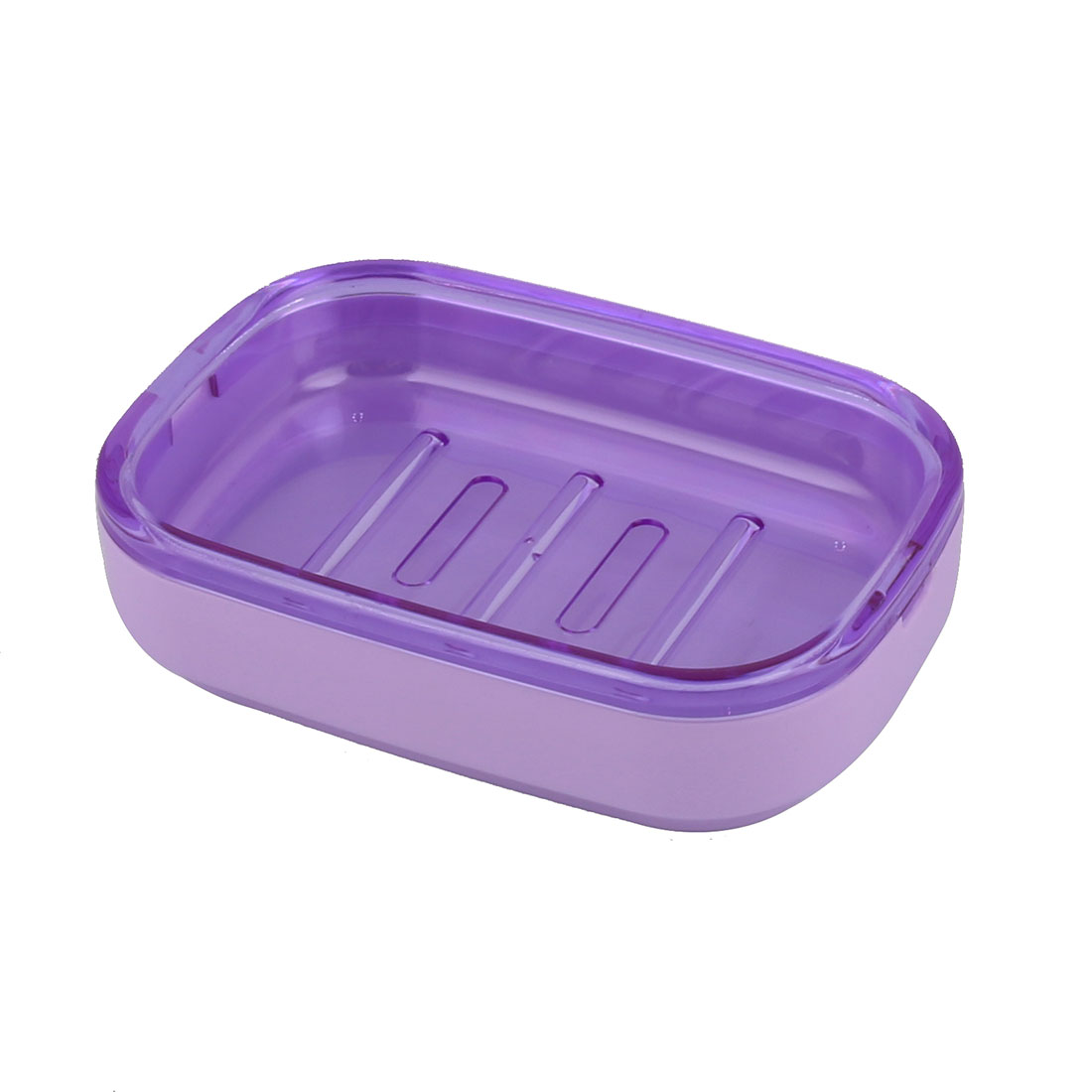 Hotel Household Bathroom Wave Base PP 2 Layers Soap Box Holder Case Container Purple