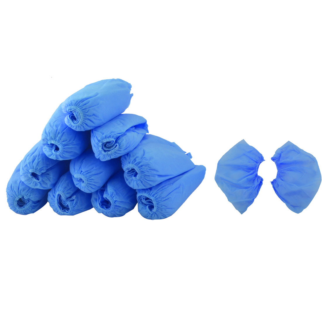Non-woven Fabrics Elastic Band Disposable Carpet Clean Shoes Cover Blue 100pcs