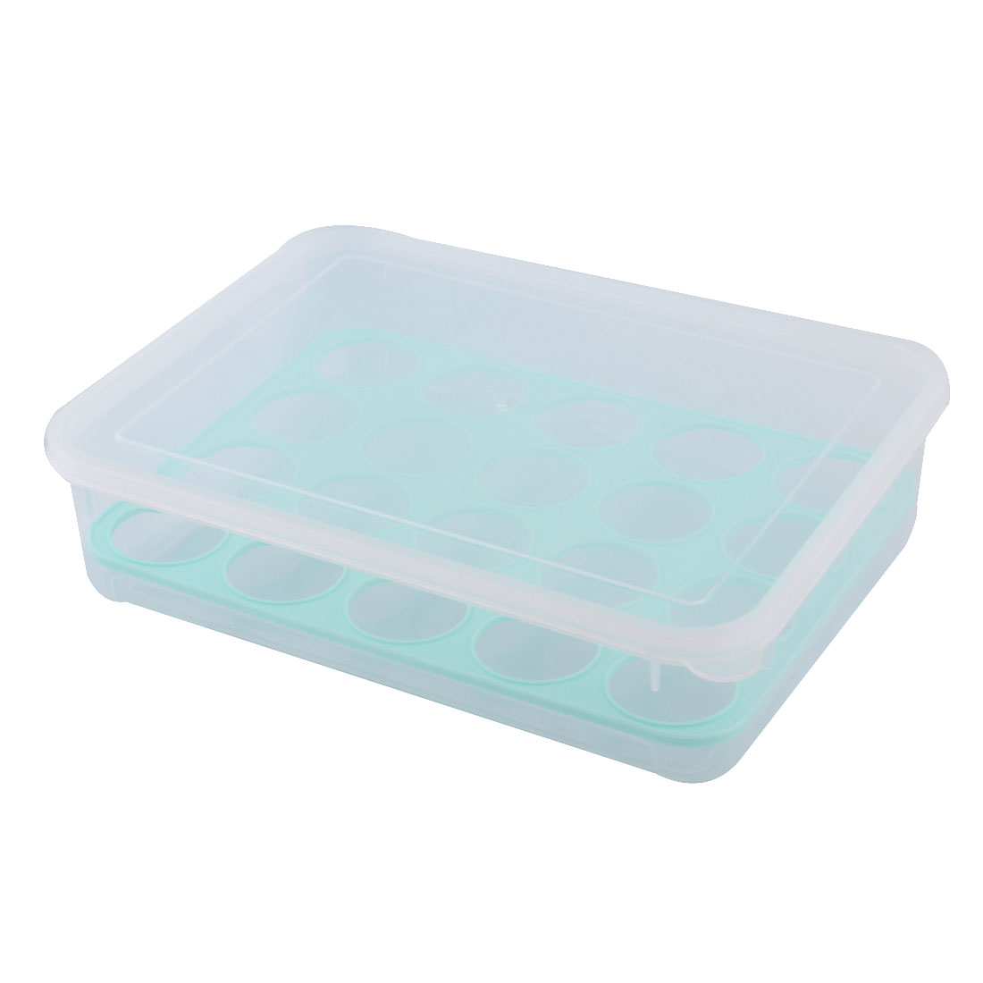 Home Kitchen Plastic 20 Eggs Container Holder Box Case Storage Clear