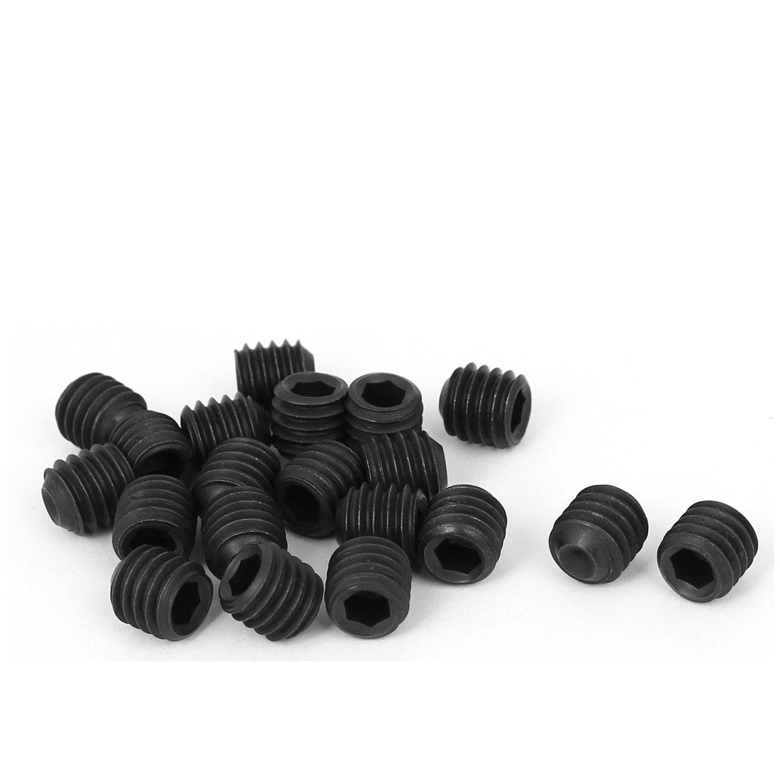 "12.9 Grade 3/8""-16 x 3/8"" Thread Cup Point Hexagon Socket Set Grub Screws 20 Pcs"