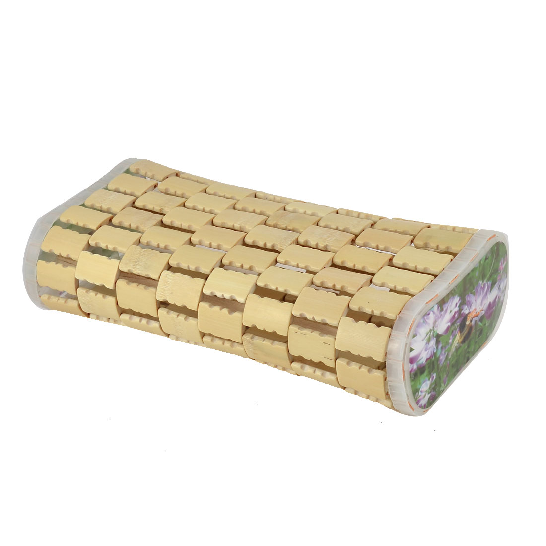 Bamboo Mesh Designed Plastic Rim Breathable Summer Neck Pillow 7.5 cm Height