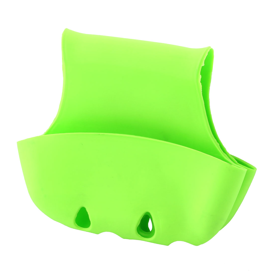 Kitchen Bathroom PVC Double Saddle Washing Tool Sponge Drainer Holder Green
