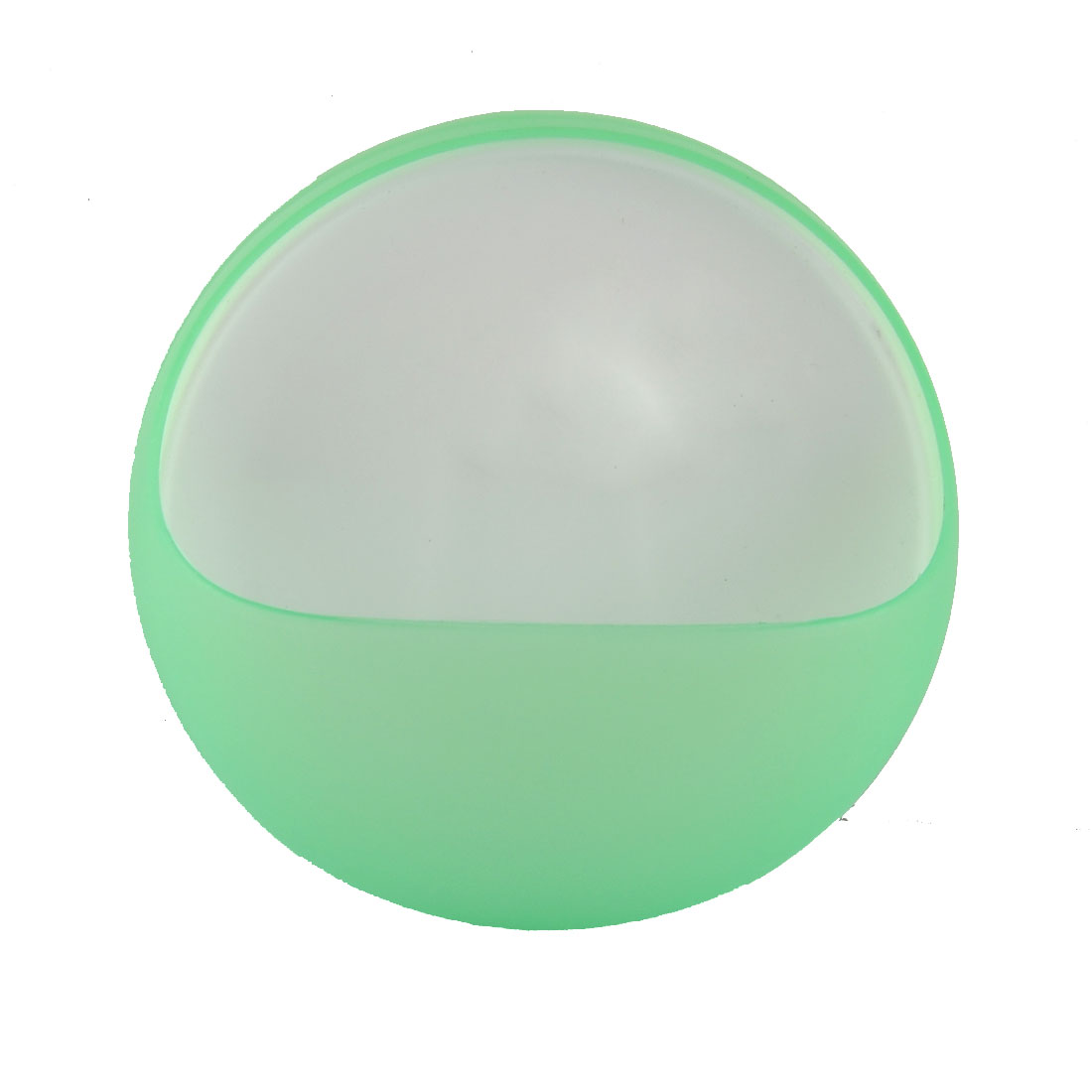 Plastic Round Shaped Bathroom Suction Cup Soap Holder Case Box Pale Green