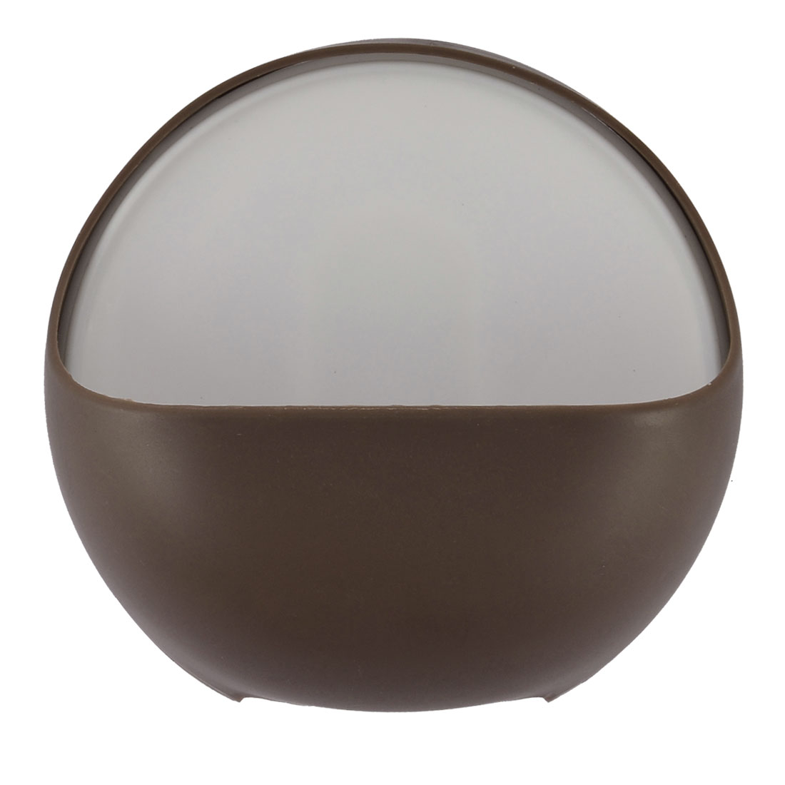 Bathroom Plastic Round Shaped Wall Mounted Suction Cup Soap Holder Chocolate Color