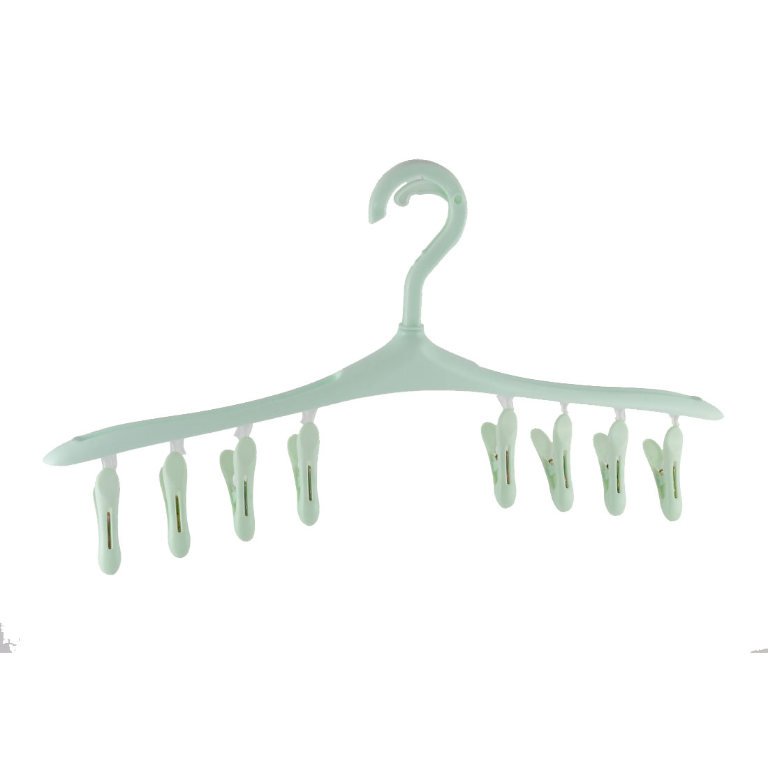 Household Plastic Laundry Drying Clips Clamps Clotheshorse Hanger Light Green