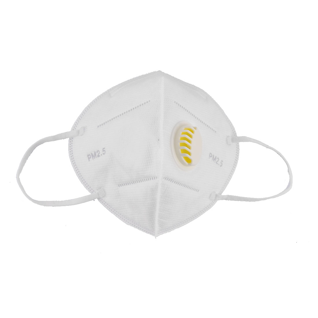 Non-Woven Fabric Stretchy Strap Dust Proof Breather Valve Face Masks White