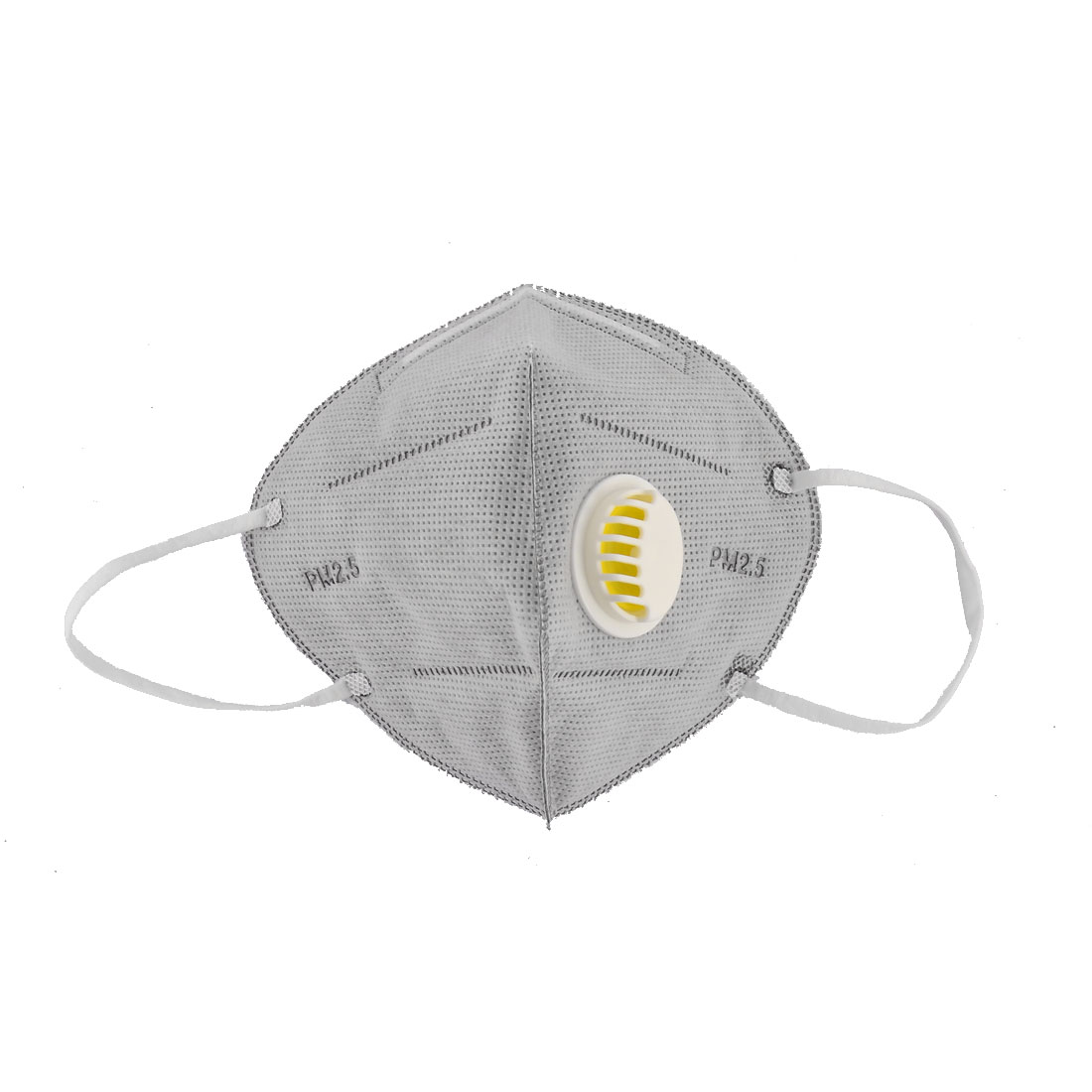 Non-woven Fabric Mouth Protectors Dustproof Breather Valve Face Mask Gray