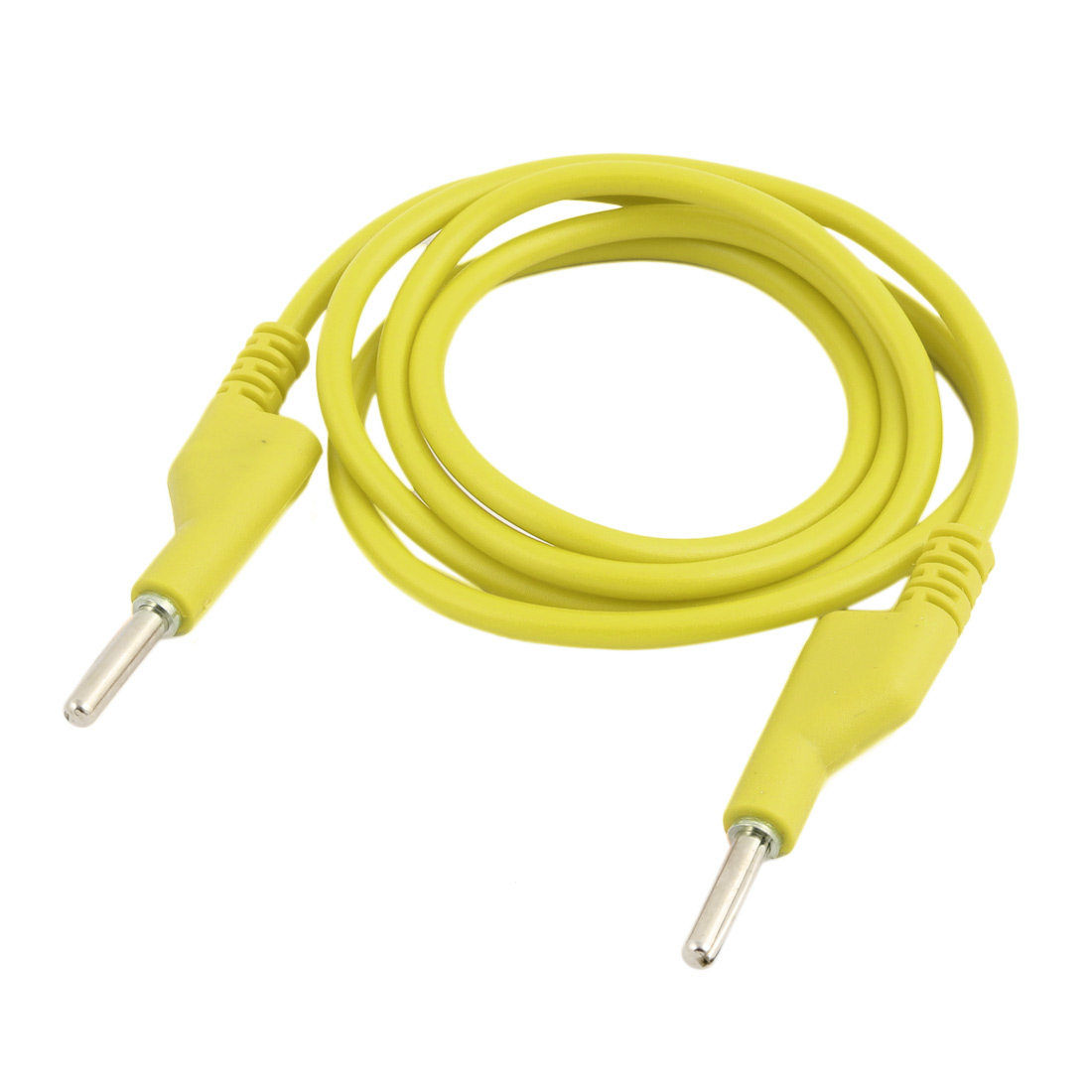 High Current Terminal Connector Cable Jumper Silicone Wire Test Leads 1m Length Yellow