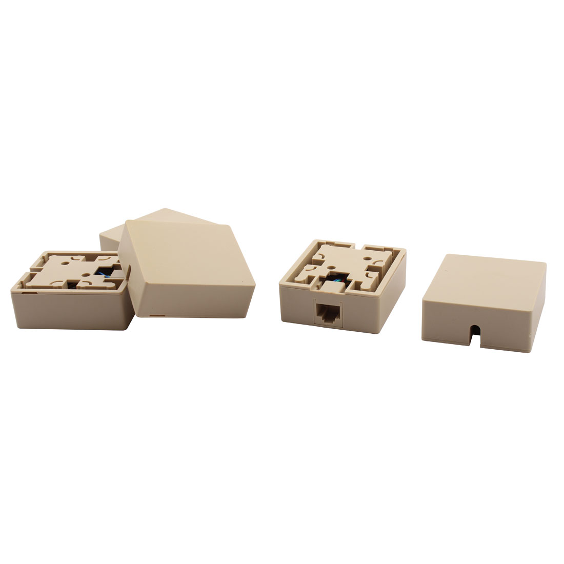 RJ45 8P8C Cat5 Ethernet Network Cable Wall Surface Mount Connector Box 5 Pcs