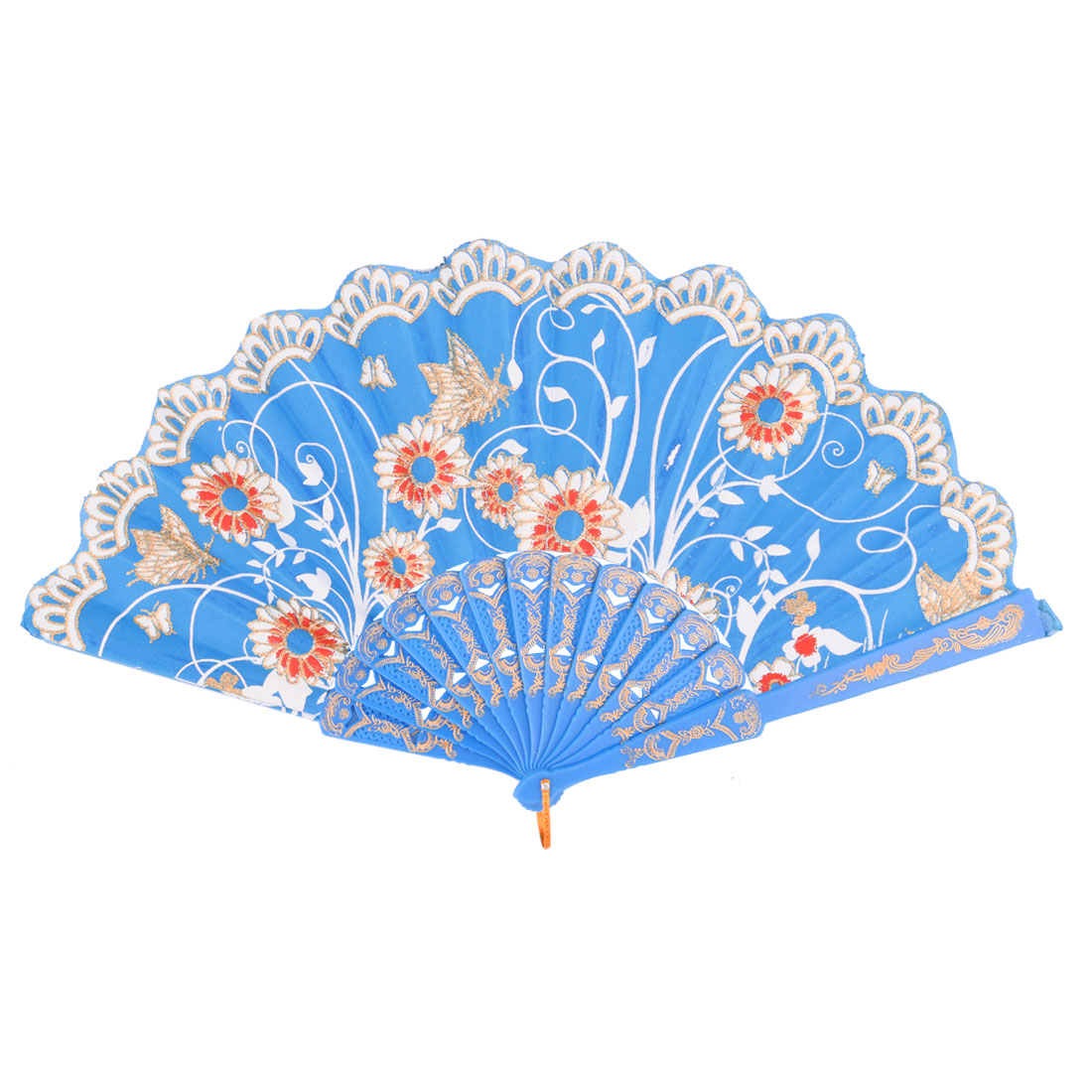 Plastic Frame Peacock Pattern Summer Folding Handheld Hand Fan Hand-crafted