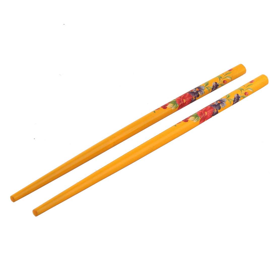 Wooden Lady Chinese Traditional Classic Elegant Hairpins Stick Orange Pair