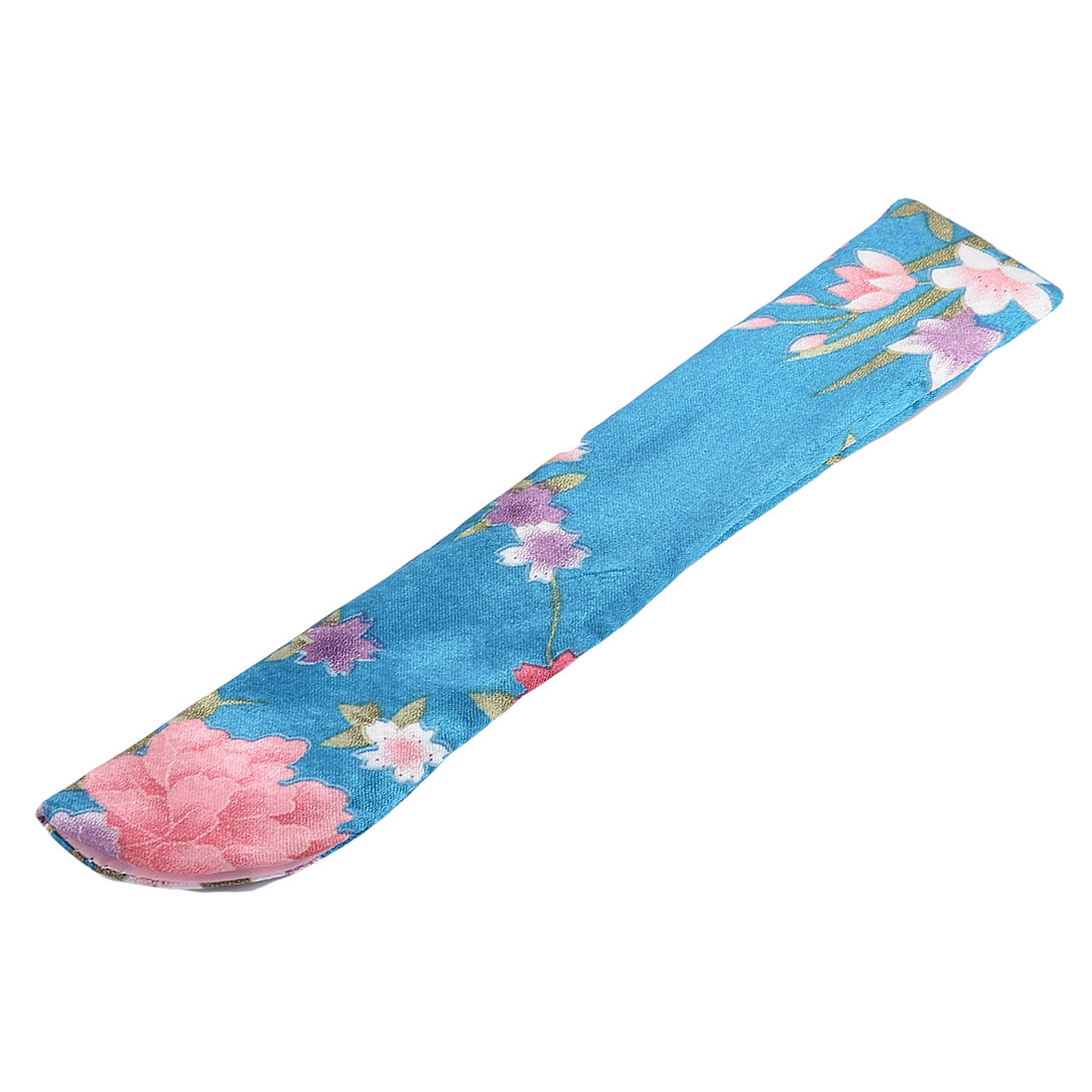 Fabric Floral Pattern Printed Classic Design Soft Folding Hand Fan Pouch Bag