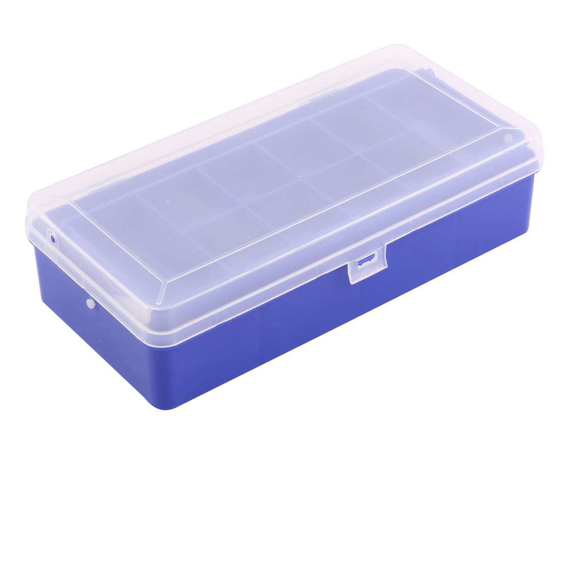 Outdoor Fishing Plastic Double Layers 13 Compartments Lure Container Case Blue Clear