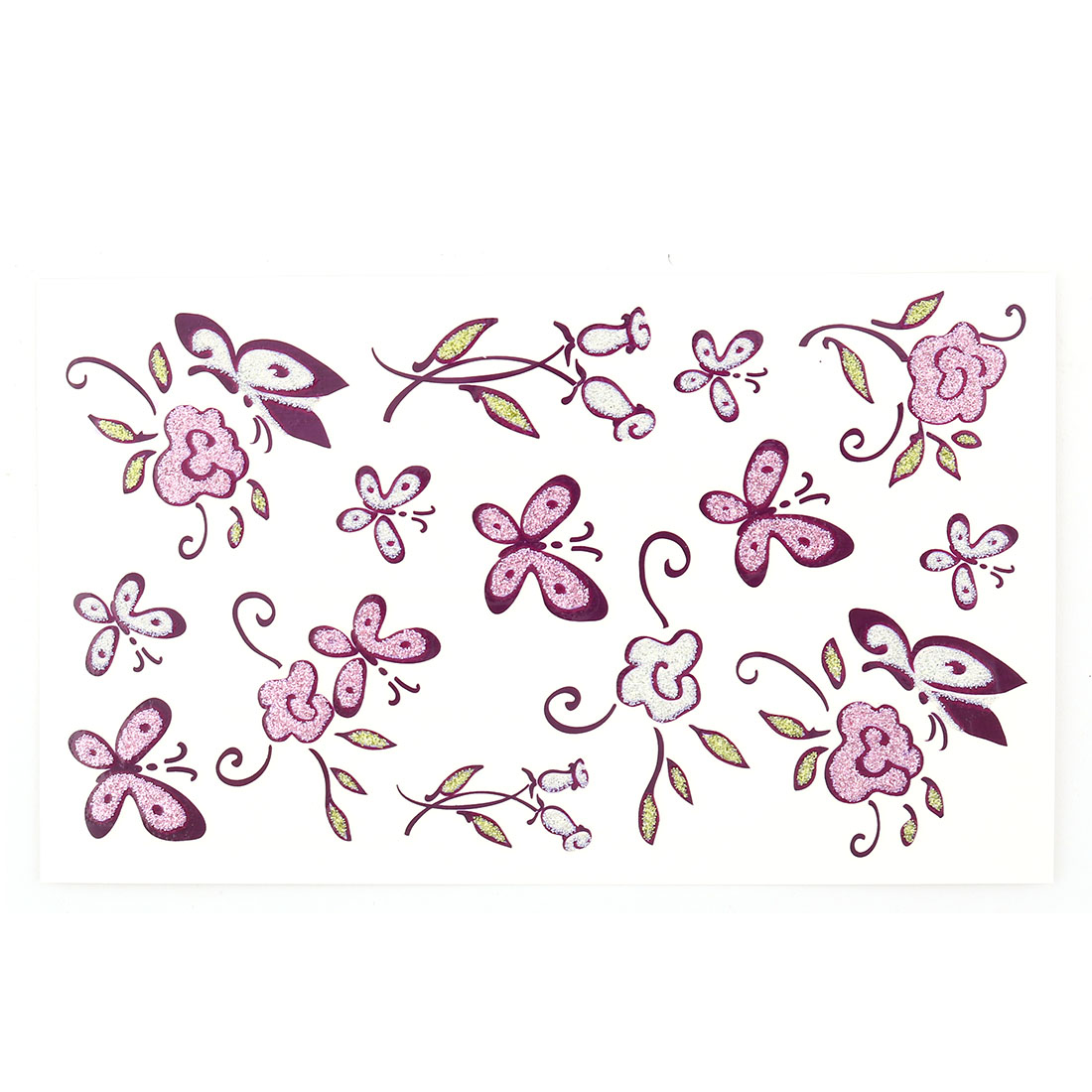 Women Flower Butterfly Pattern Body Art Arm Paints Sticker Decal Temporary Tattoo Sheet