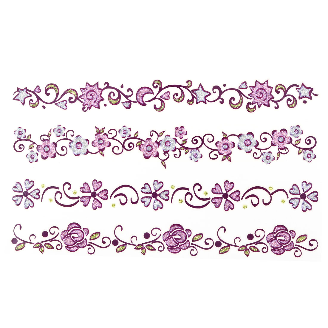 Lady Flower Pattern Body Art Arm Paints Removable Temporary Tattoo Sticker Decal Sheet