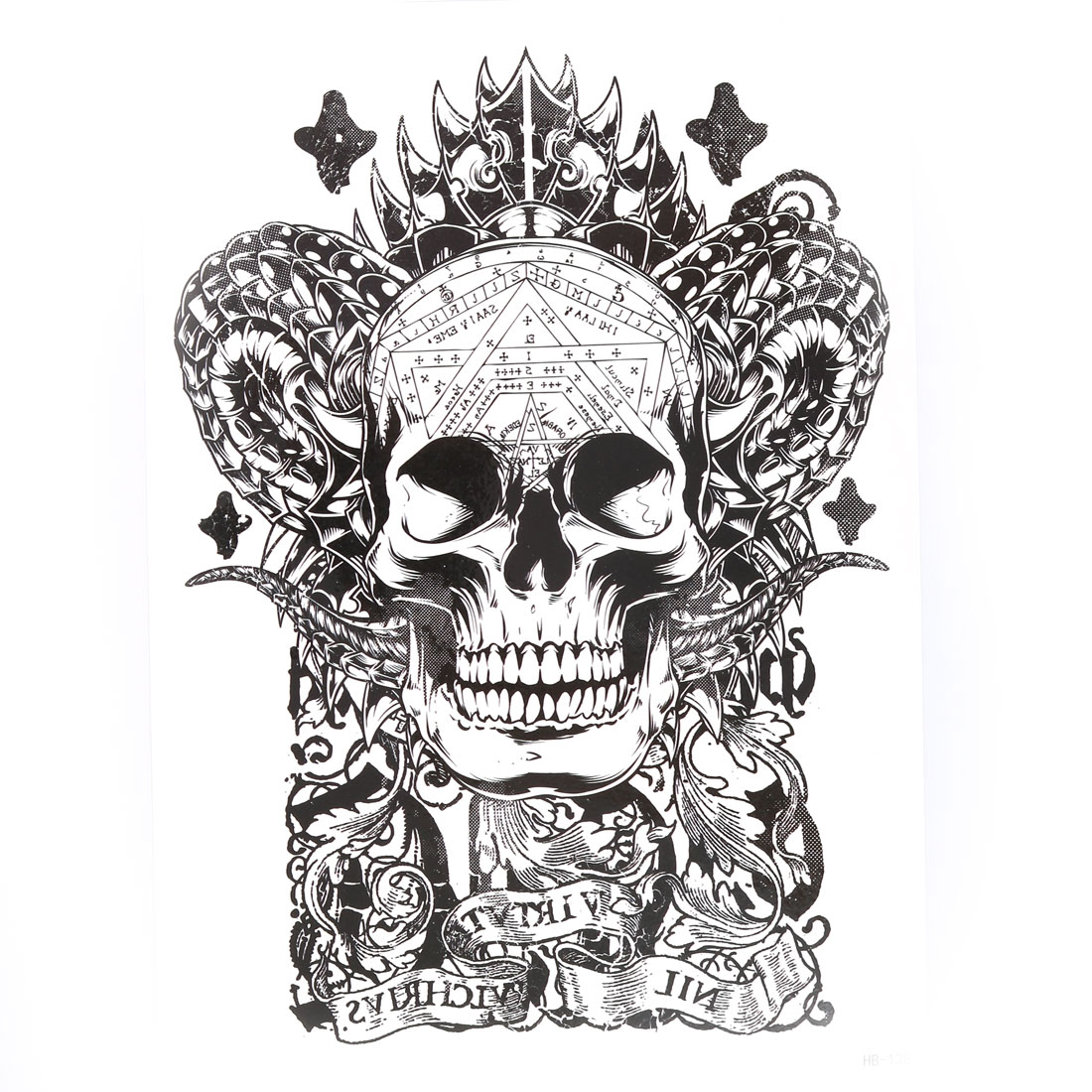 Body Arm Art Skull Pattern Removable Decoration Sticker Decal Temporary Tattoo