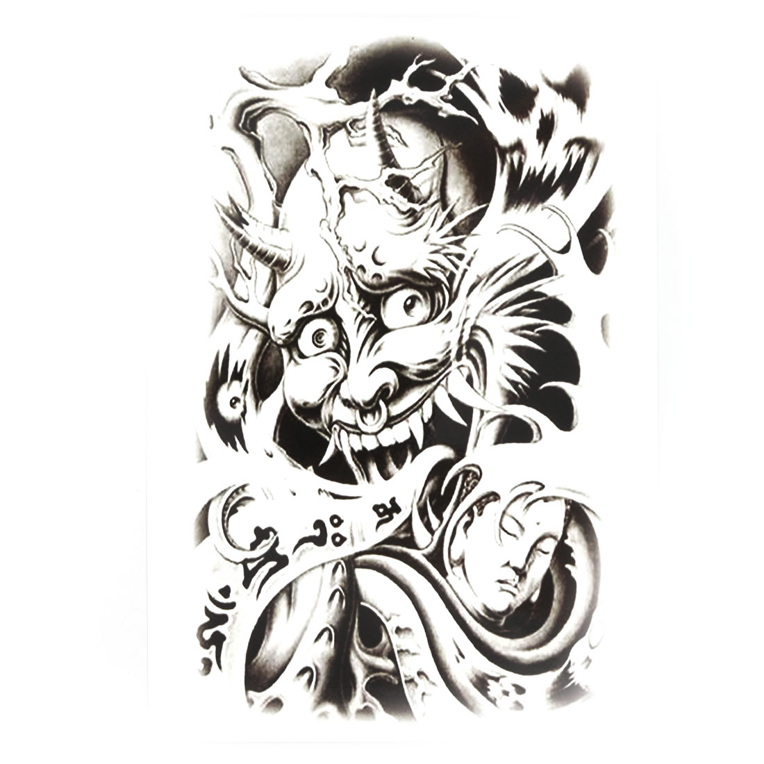 Body Art Devil Buddha Pattern Removable Decoration Paper Sticker Decal Temporary Tattoo