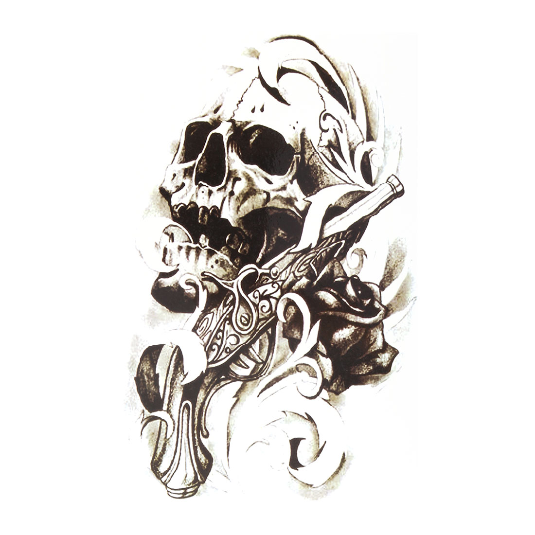 Man Skull Pattern Removable Body Art Decoration Paper Sticker Decal Temporary Tattoo