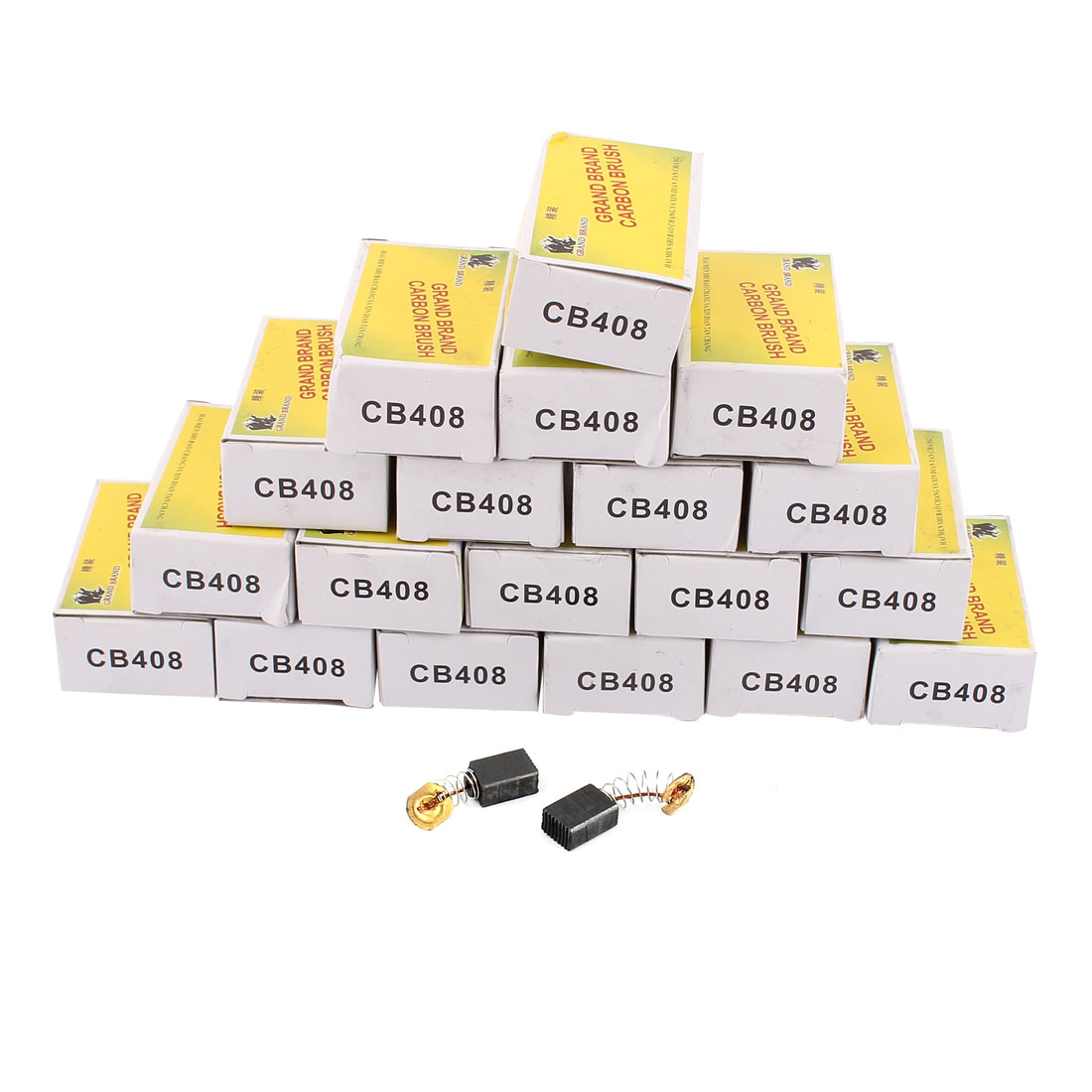 40 Pcs Replacement CB408 Carbon Brushes 12 x 8 x 5mm for Electric Motors