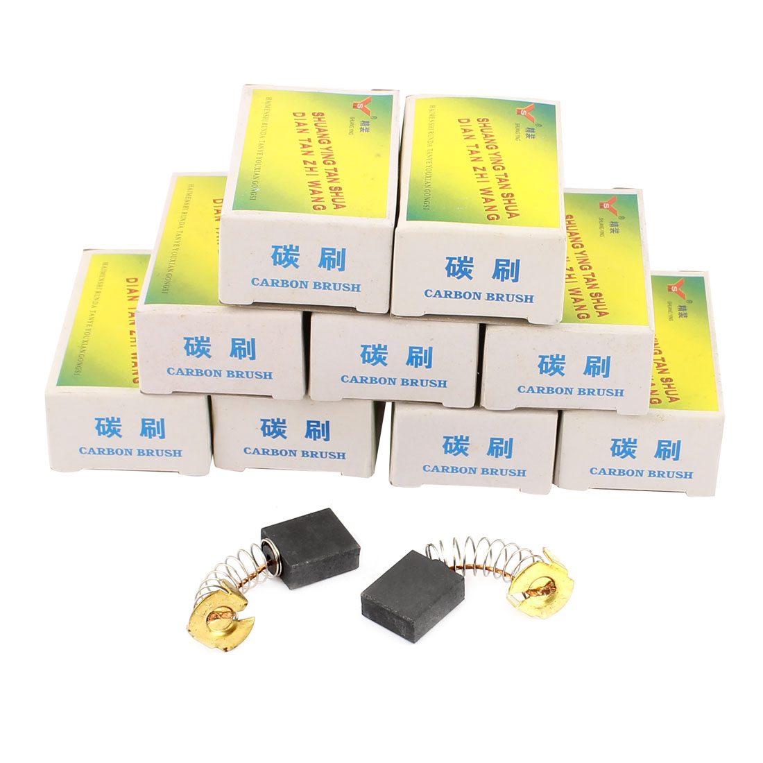 20 Pcs Replacement Motor CB153 Carbon Brush 16 x 13 x 5mm for Electric Motors