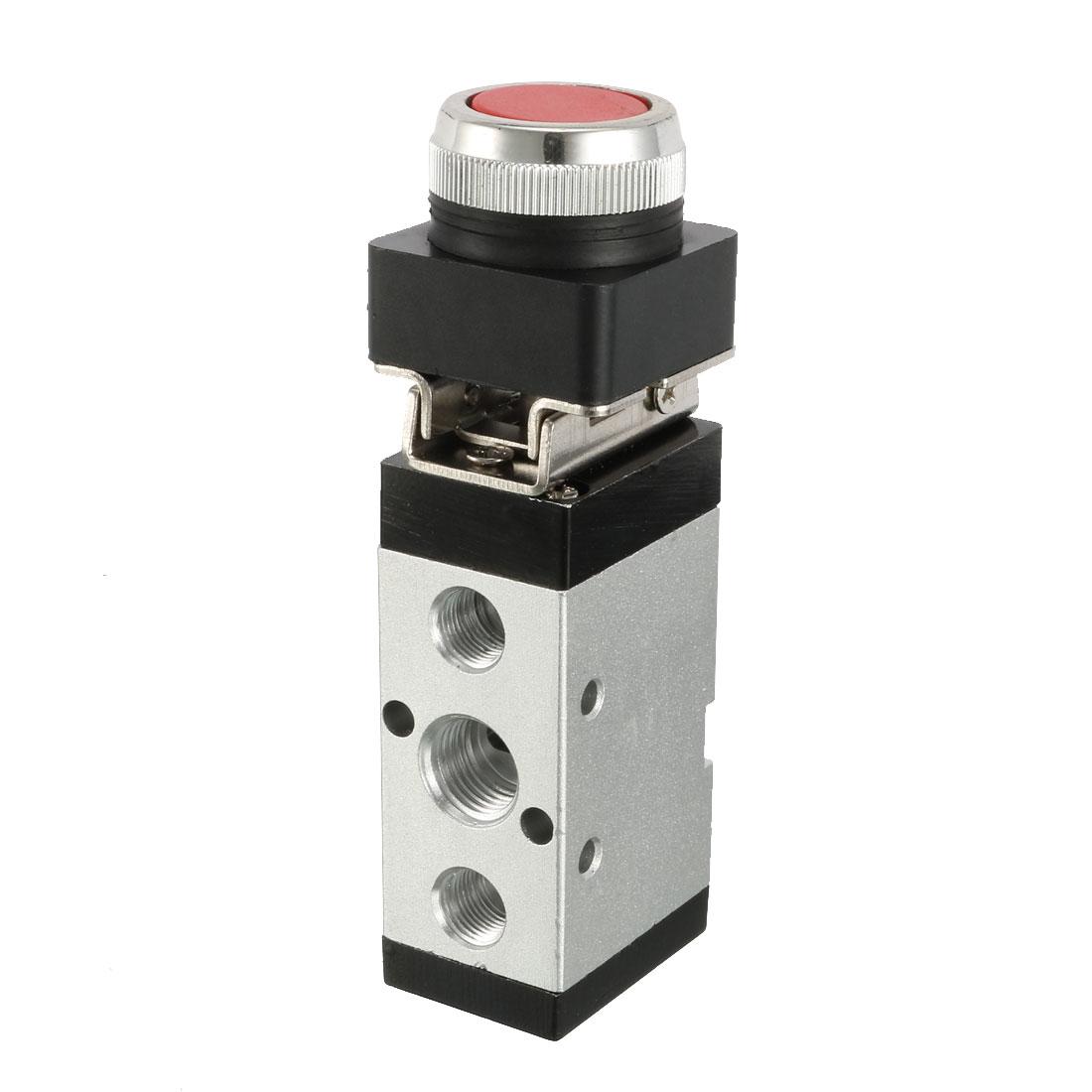 MSV-86522PPL 1/4BSP 5 Way 2 Position Momentary Flat Push Button Pneumatic Mechanical Valve