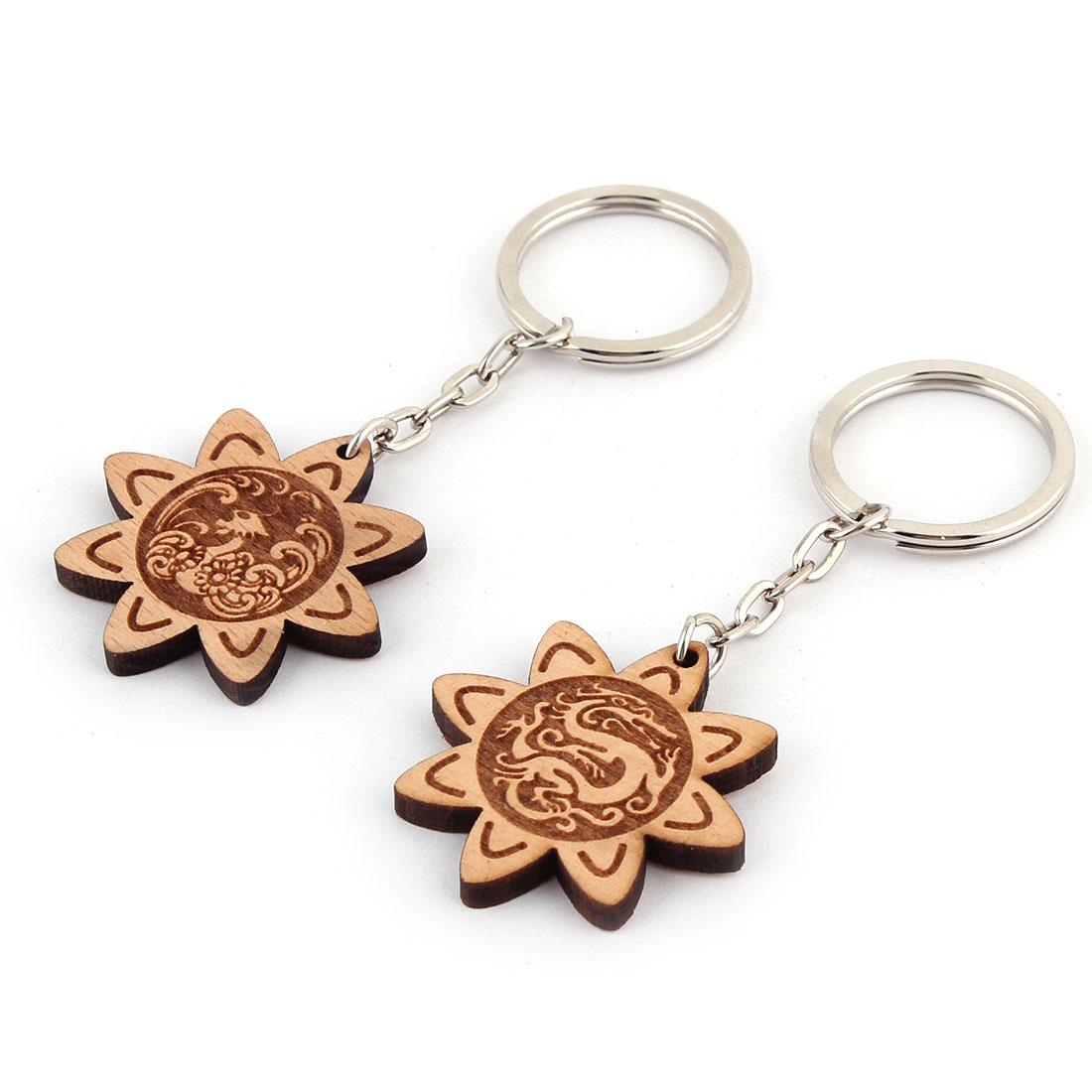 Metal Portable ClampDetailing Pendant Keyring Keychain Ornament 2pcs