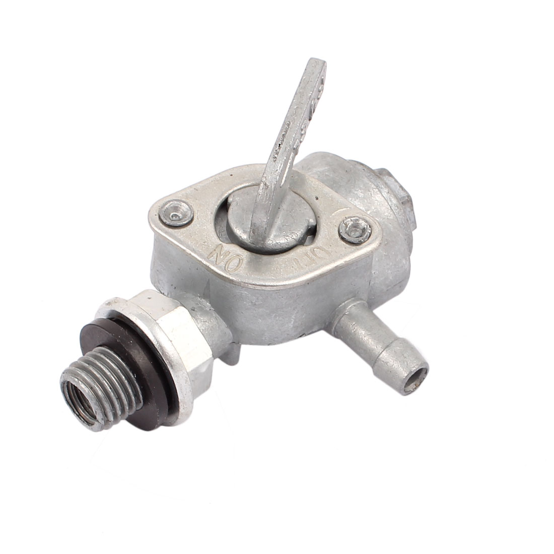 Single 10mm Male Thread Air Compressor Oil Fuel Drain Valve Silver Tone