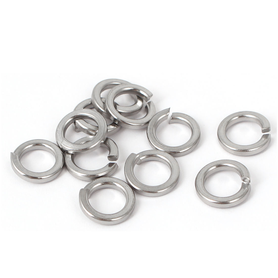 8mm Inner Dia 304 Stainless Steel Square Section Spring Washers DIN 7980 11PCS