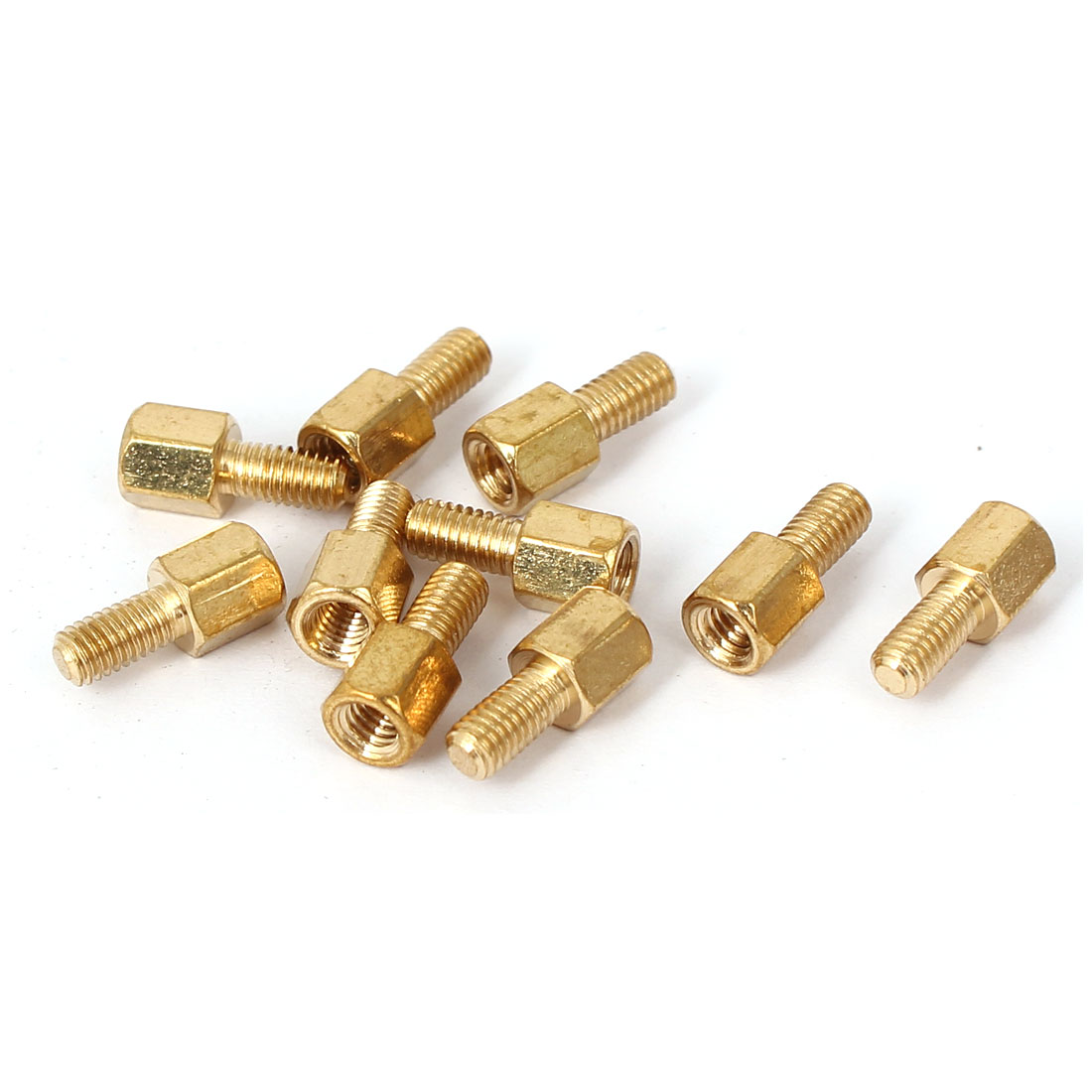 M3 x 5mm + 6mm Brass Hex Hexagon Pillars PCB Standoffs Stand-off Spacers 10PCS