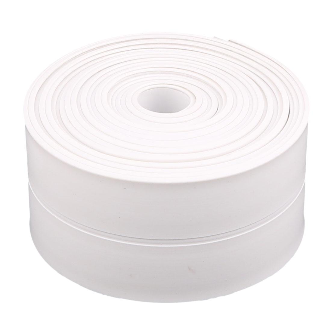 Bathroom Kitchen PVC Self Adhesive Wall Crack Reapir Mildew Waterproof Tape White