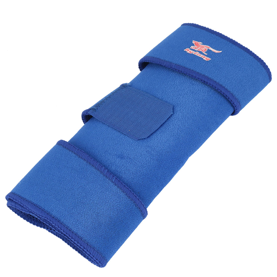 Basketball Sports Nylon Elastic Leg Muscle Support Protector Sleeve Knee Brace Blue
