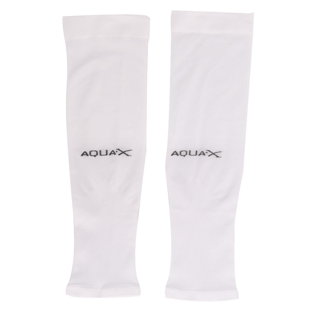 Hiking Sports Polyamide Elastic Pullover Elbow Brace Support Protector White Pair