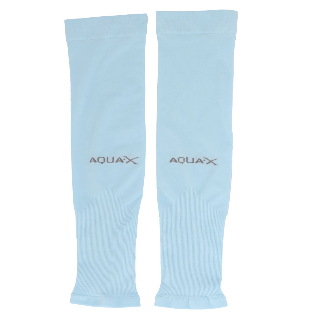 Outdoor Sports Polyamide Elastic Pullover Elbow Brace Support Protector Sky Blue Pair