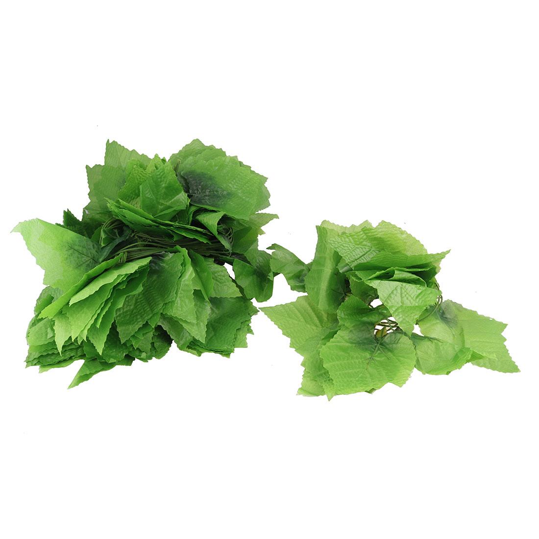 Green Artificial Simulation Ivy Grape Leaves Flowers Plants Home Room Garden Garland Decor 12 Pcs