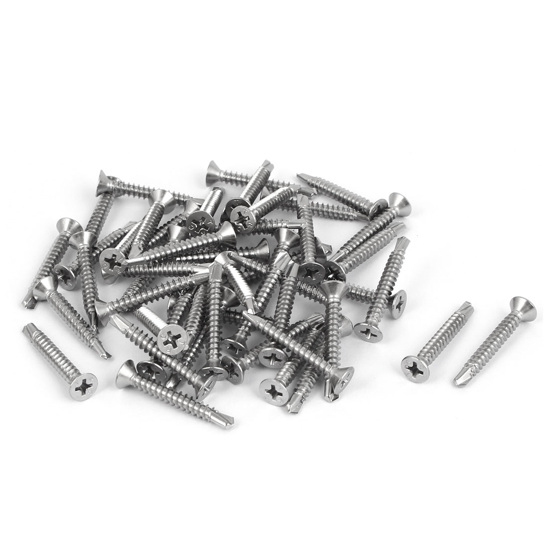 M4.2x32mm #8 Stainless Steel Self Drilling Countersunk Phillips Head Screw 50pcs