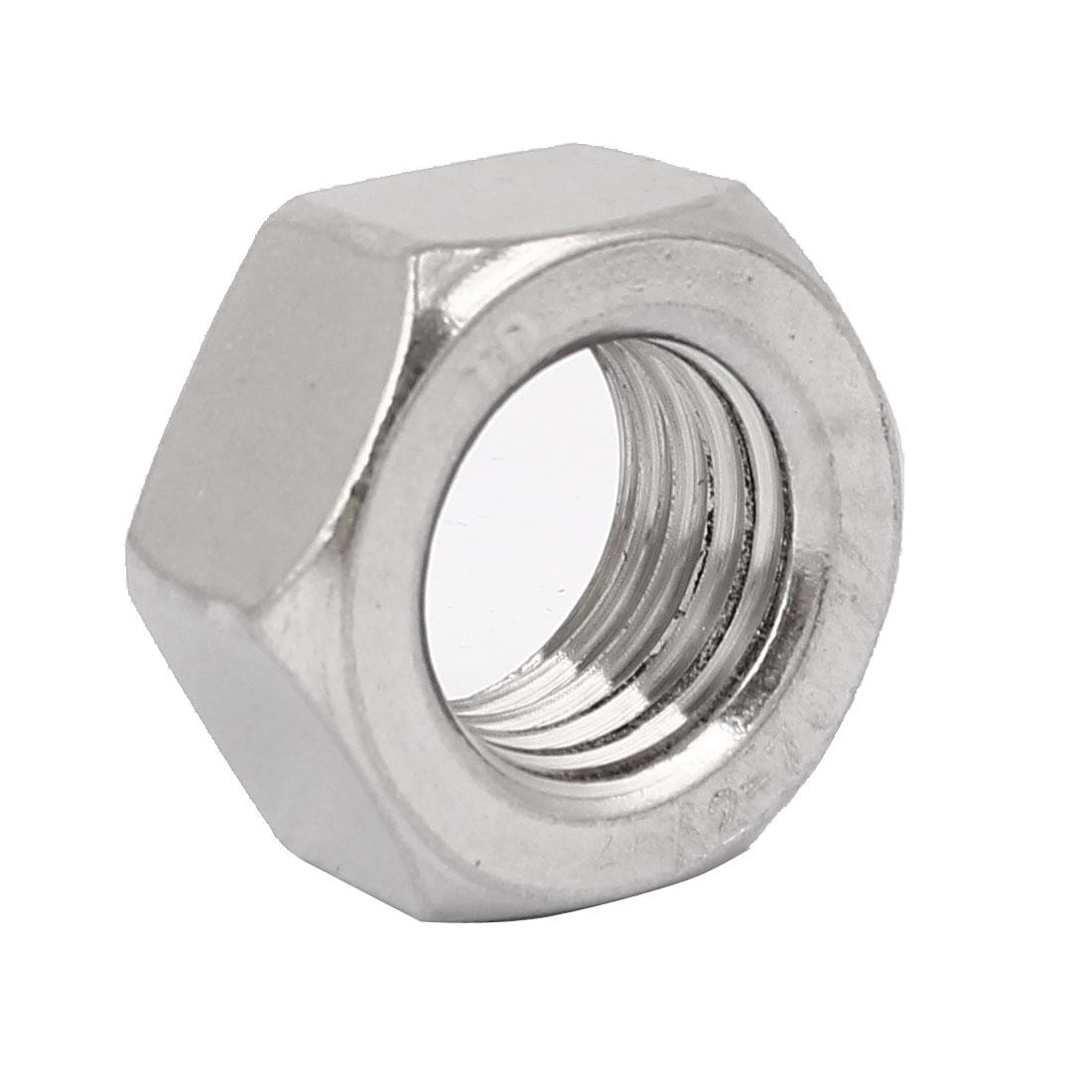 M24 Thread Dia 304 Stainless Steel Hex Nut Screw Cap Fastener Silver Tone