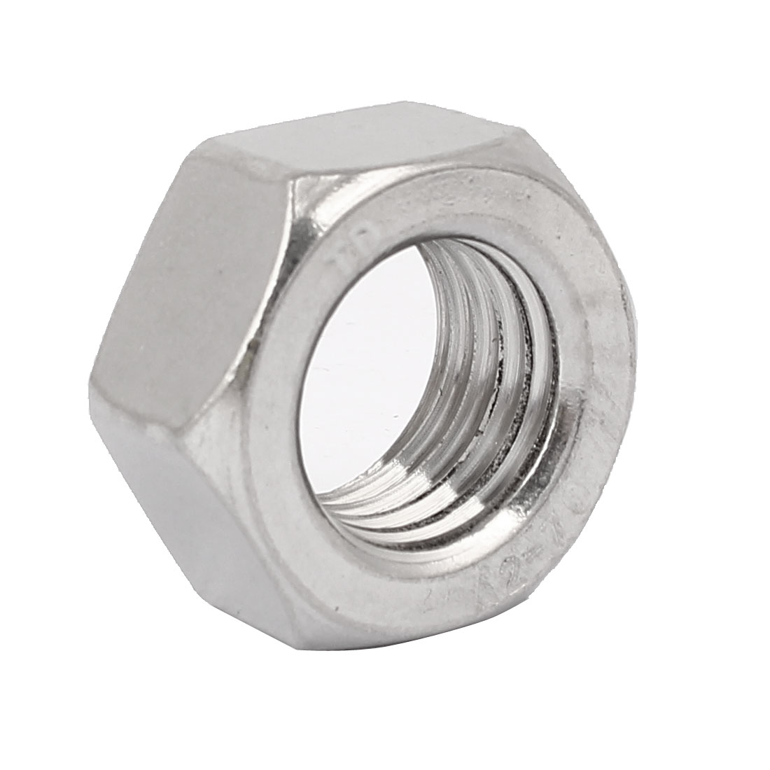 M27 Thread Dia 304 Stainless Steel Hex Nut Screw Cap Fastener Silver Tone