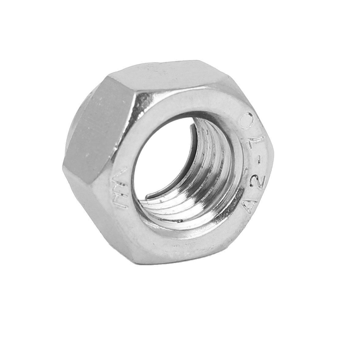 M14 304 Stainless Steel Self-Locking Anti-loose Insert Hex Lock Nut Silver Tone