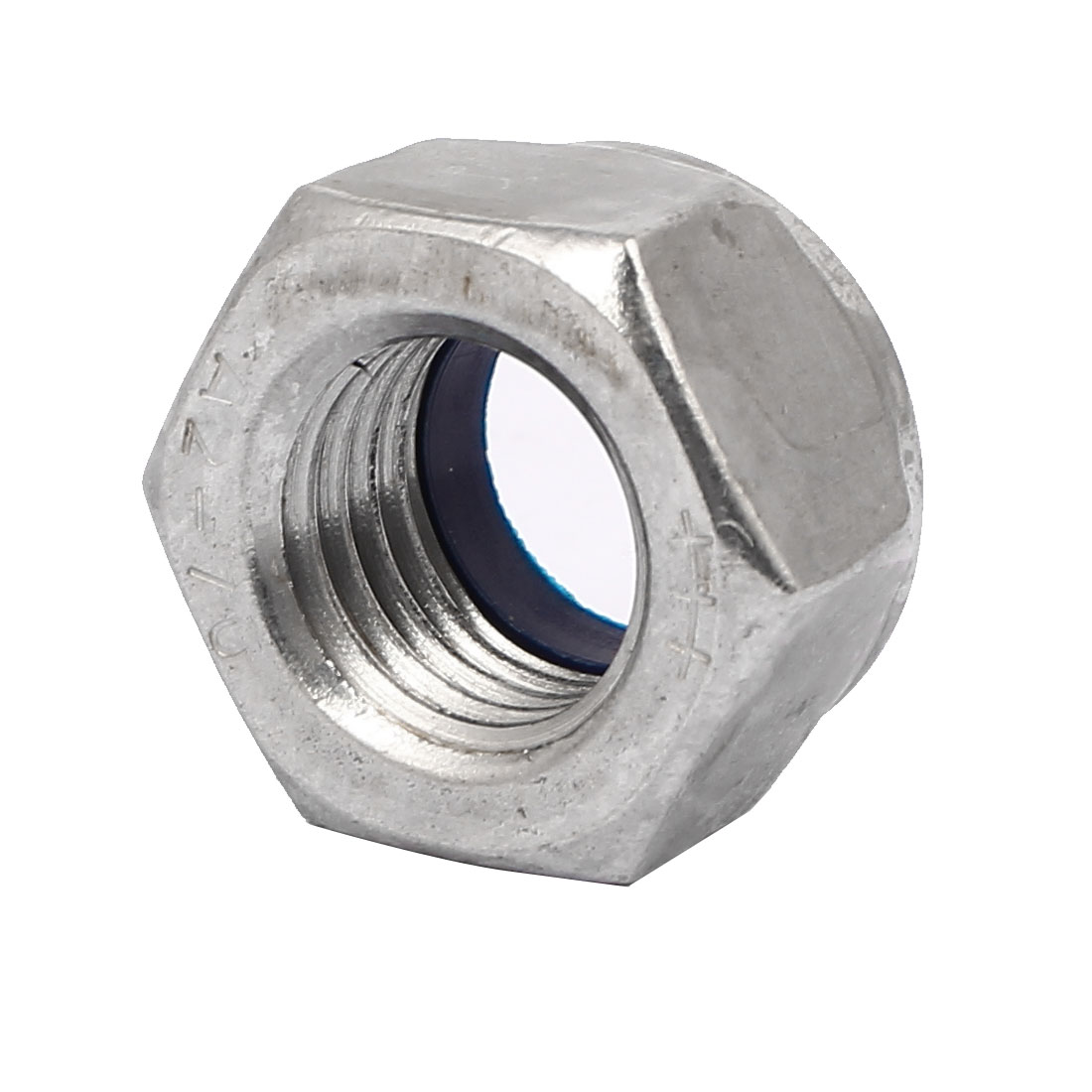304 Stainless Steel Nylock Nylon Insert Hex Lock Nuts Silver Tone M24