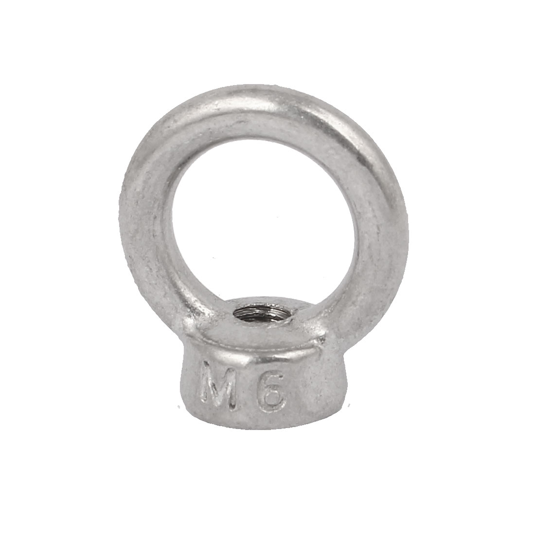 M6 Thread Dia 304 Stainless Steel Ring Shape Lifting Eye Nut Silver Tone