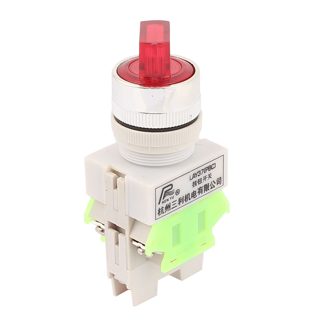 AC 660V 10A DPST NC/NO 3 Position Red Light Selector Self Locking Rotary Switch