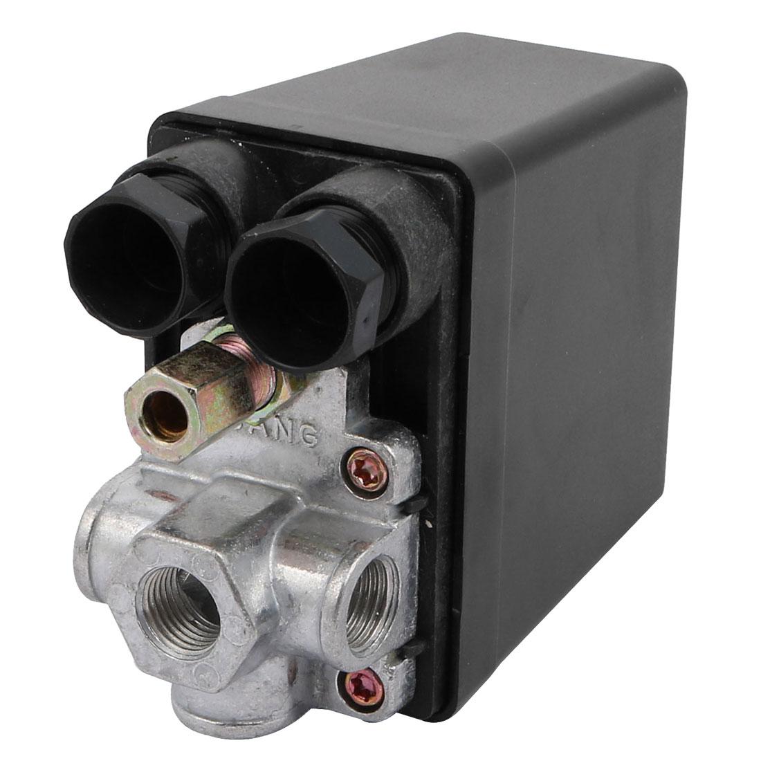 240V 15A 0.8Mpa 4 Ports Air Compressor Pressure Bar Control Switch
