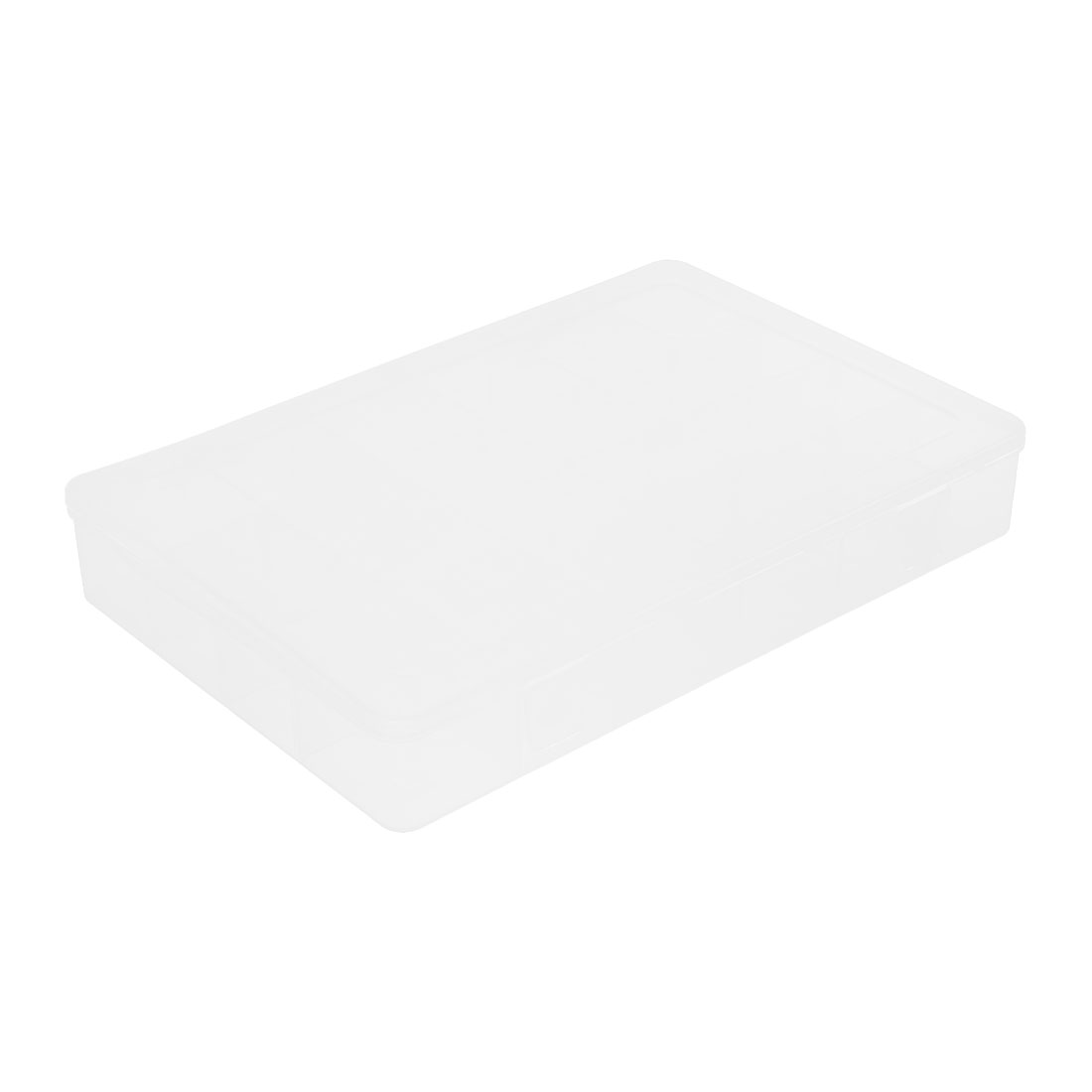 Home School Office Plastic Adjustable 24 Compartments Storage Box Clear White