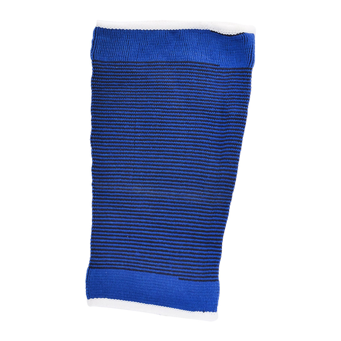 Men Elastic Fabric Athletic Sports Wrestling Knee Support Protector Blue