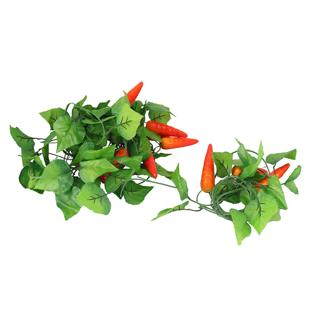 Artificial Red Pepper Green Leaf Wall Decorative Hanging Vine 2.6M Lenght 5pcs