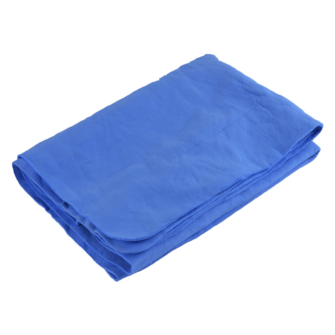 Household Synthetic Chamois Leather Rectangle Bathing Drying Towel Blue
