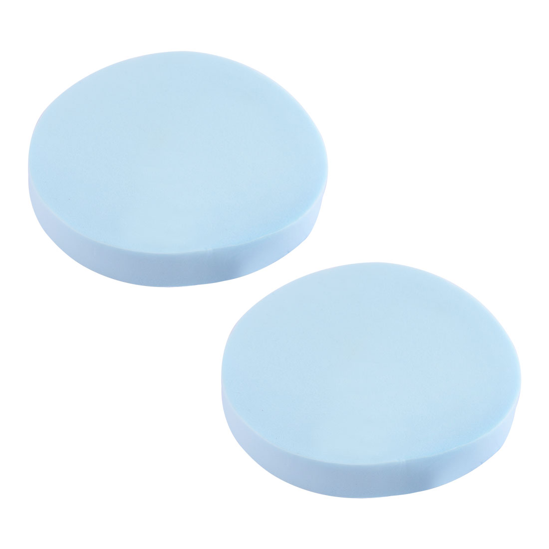Lady Round Shaped Cosmetic Beauty Tool Facial Cleaning Sponge Blue 2 Pcs