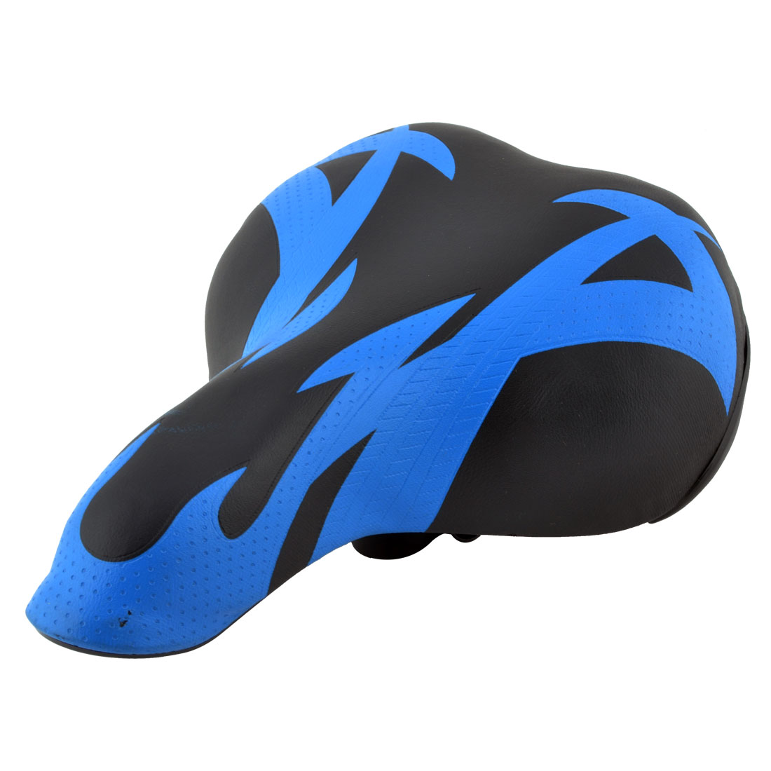 Mountain Bicycle Biking Accessories Faux Leather Blue Black Seat Saddle Cushion