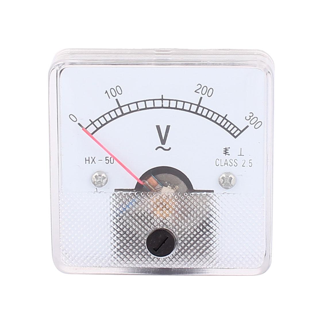 AC 0-300V Fine Tuning Dial Panel Analog Voltage Meter Voltmeter HX-50
